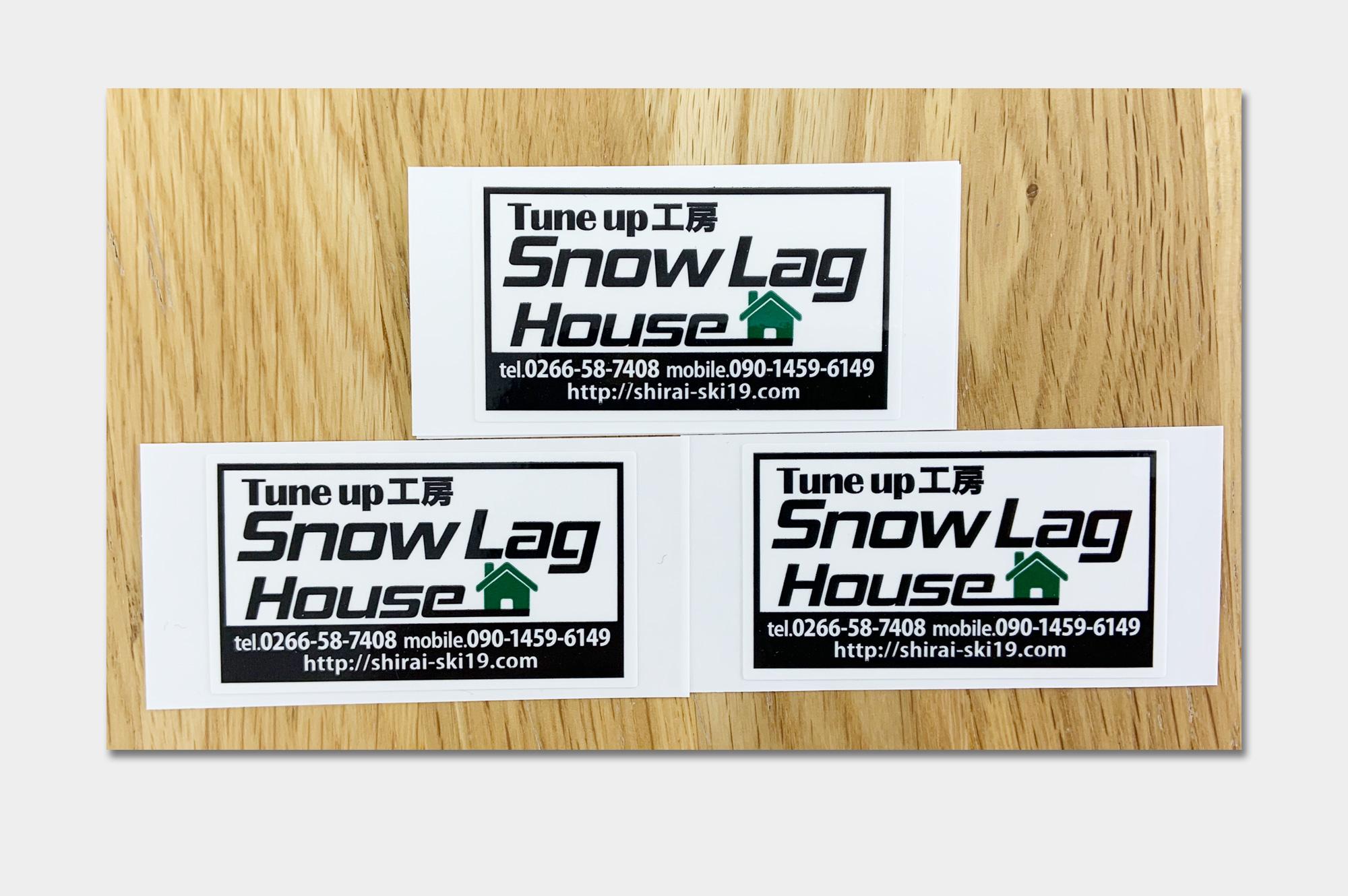 特殊加工ステッカー(Snow Lag House様)