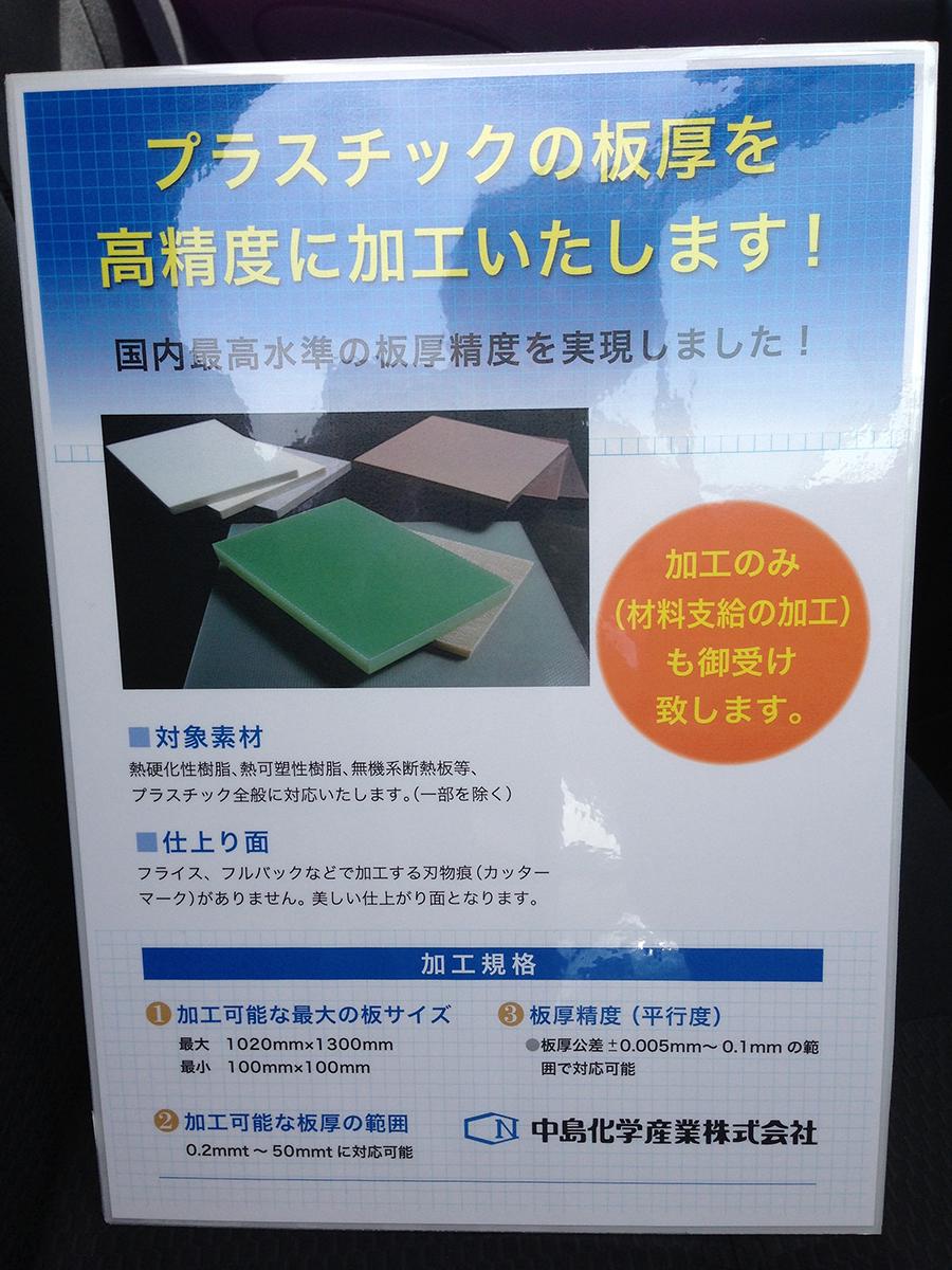中島化学産業様A3パネルできました。