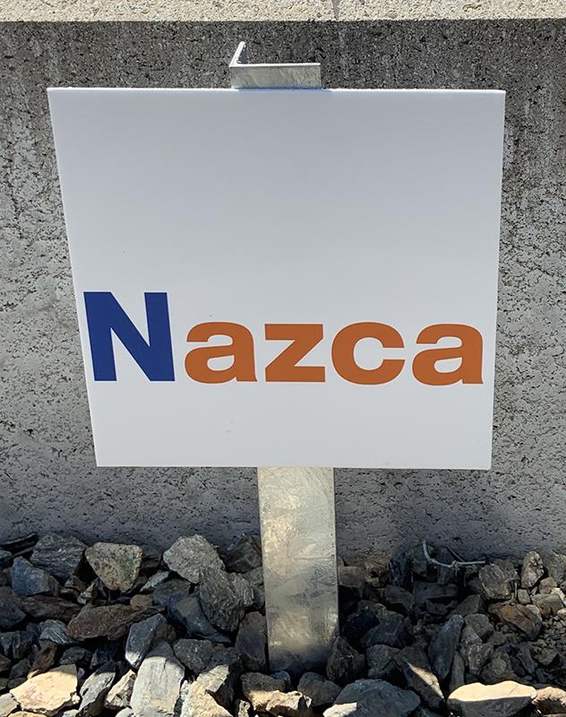 ナスカ様駐車場プレートできました。