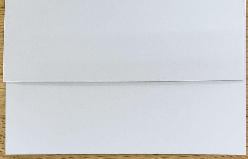 ミニモト様白艶ボール紙3500枚できました。