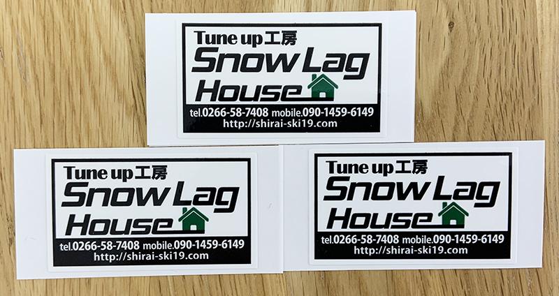 Snow Lag House様のスッテカーができました。